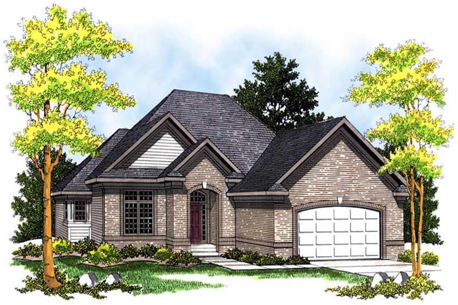 3-Bedroom, 1921 Sq Ft Ranch House Plan - 101-1287 - Front Exterior