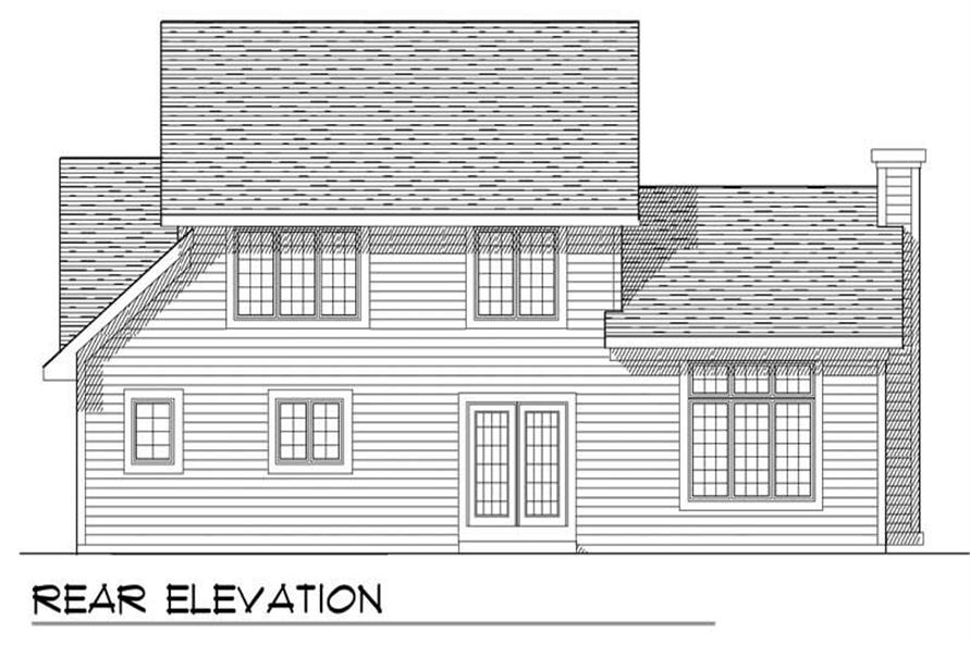 Home Plan Rear Elevation of this 3-Bedroom,1791 Sq Ft Plan -101-1288