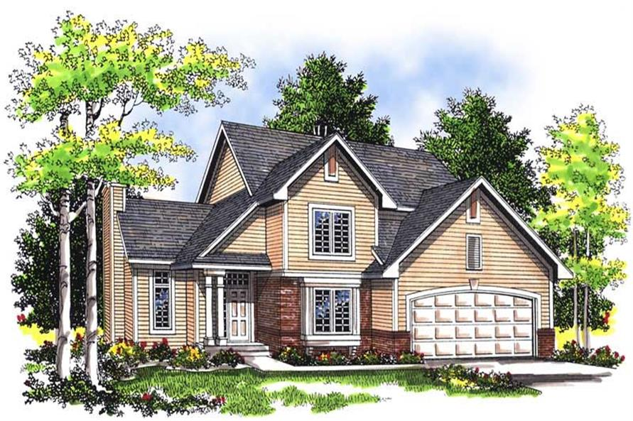 3-Bedroom, 1791 Sq Ft Craftsman Home Plan - 101-1288 - Main Exterior