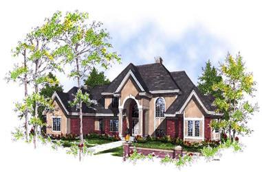 4-Bedroom, 3600 Sq Ft Luxury Home Plan - 101-1289 - Main Exterior