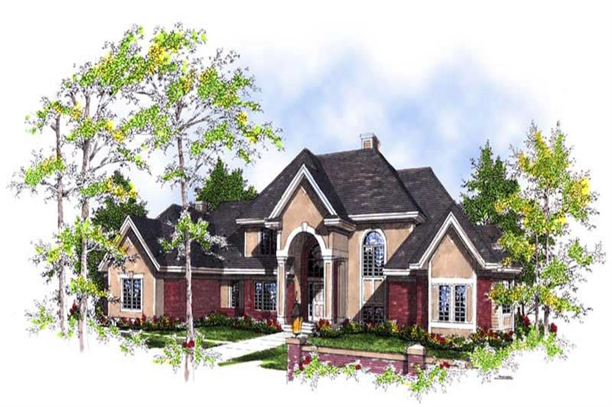 4-Bedroom, 3600 Sq Ft Luxury Home Plan - 101-1289 - Main Exterior