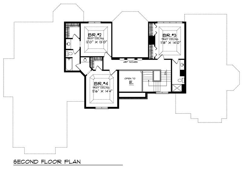Luxury home with 4 bdrms 3600 sq ft floor plan 101 1289 for 3600 sq ft house plans