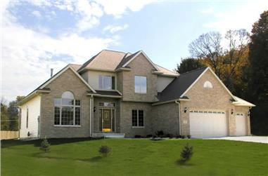 3-Bedroom, 3099 Sq Ft Country Home Plan - 101-1290 - Main Exterior