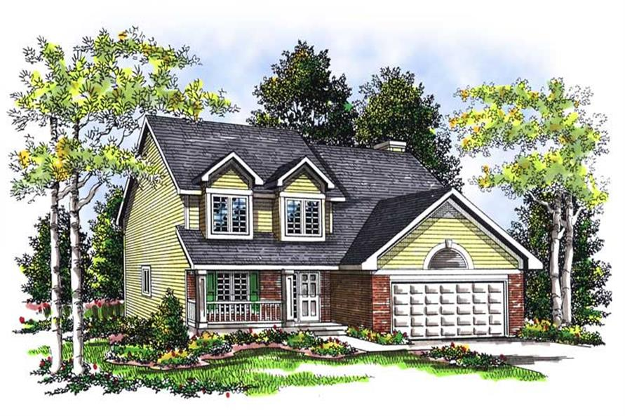4-Bedroom, 2143 Sq Ft Cape Cod Home Plan - 101-1293 - Main Exterior