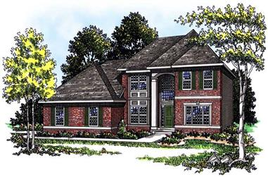 3-Bedroom, 2354 Sq Ft Colonial House Plan - 101-1294 - Front Exterior