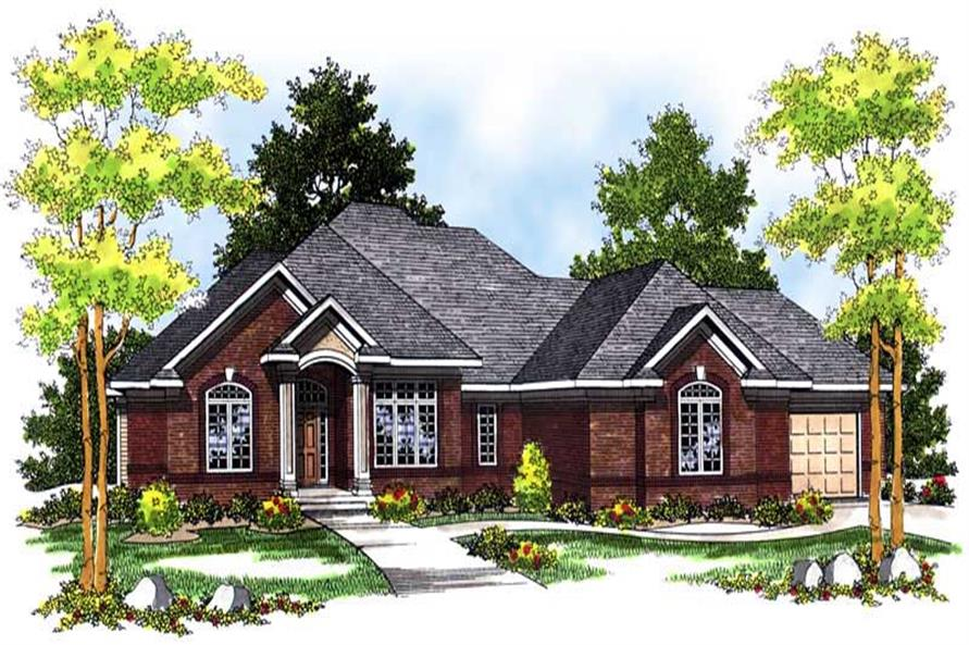 3-Bedroom, 2510 Sq Ft Ranch House Plan - 101-1295 - Front Exterior