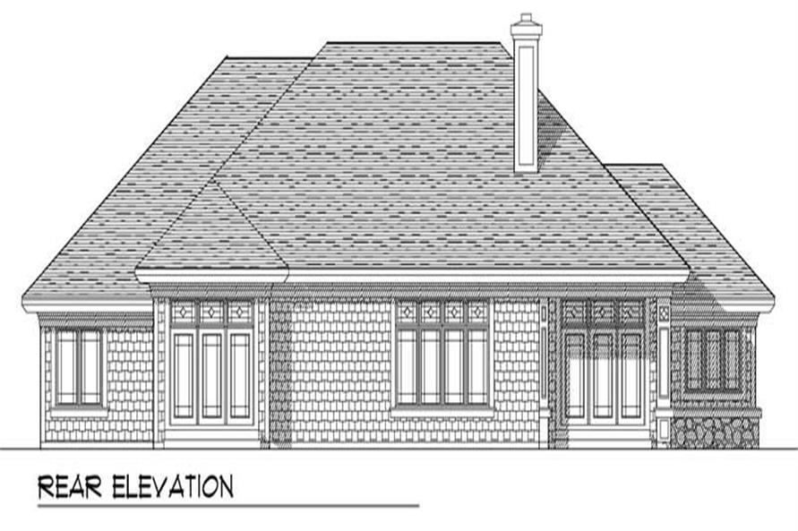 Home Plan Rear Elevation of this 3-Bedroom,2362 Sq Ft Plan -101-1296