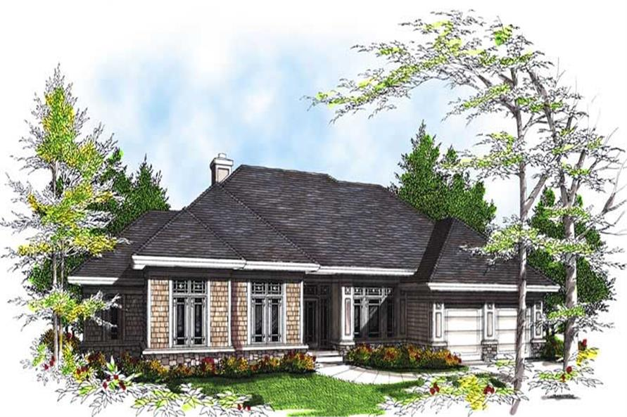 3-Bedroom, 2362 Sq Ft Ranch Home Plan - 101-1296 - Main Exterior
