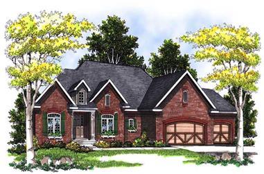 3-Bedroom, 2438 Sq Ft Cape Cod Home Plan - 101-1297 - Main Exterior