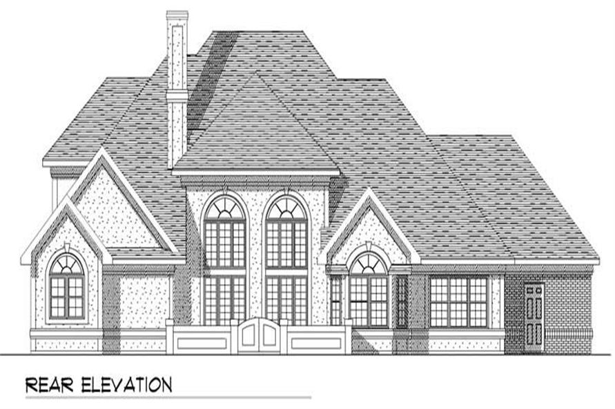 Home Plan Rear Elevation of this 4-Bedroom,3470 Sq Ft Plan -101-1298