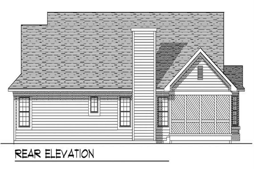 Home Plan Rear Elevation of this 3-Bedroom,1695 Sq Ft Plan -101-1299