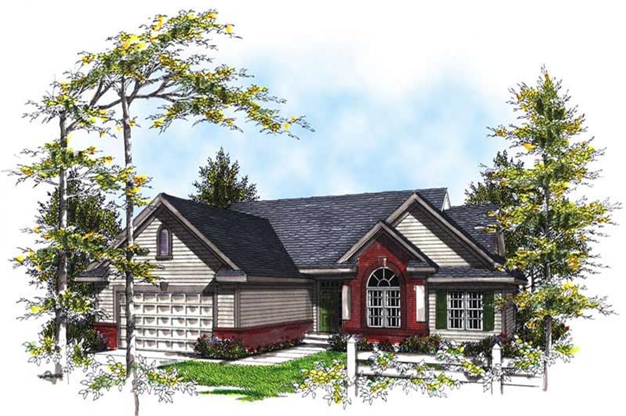 3-Bedroom, 1695 Sq Ft Bungalow House Plan - 101-1299 - Front Exterior