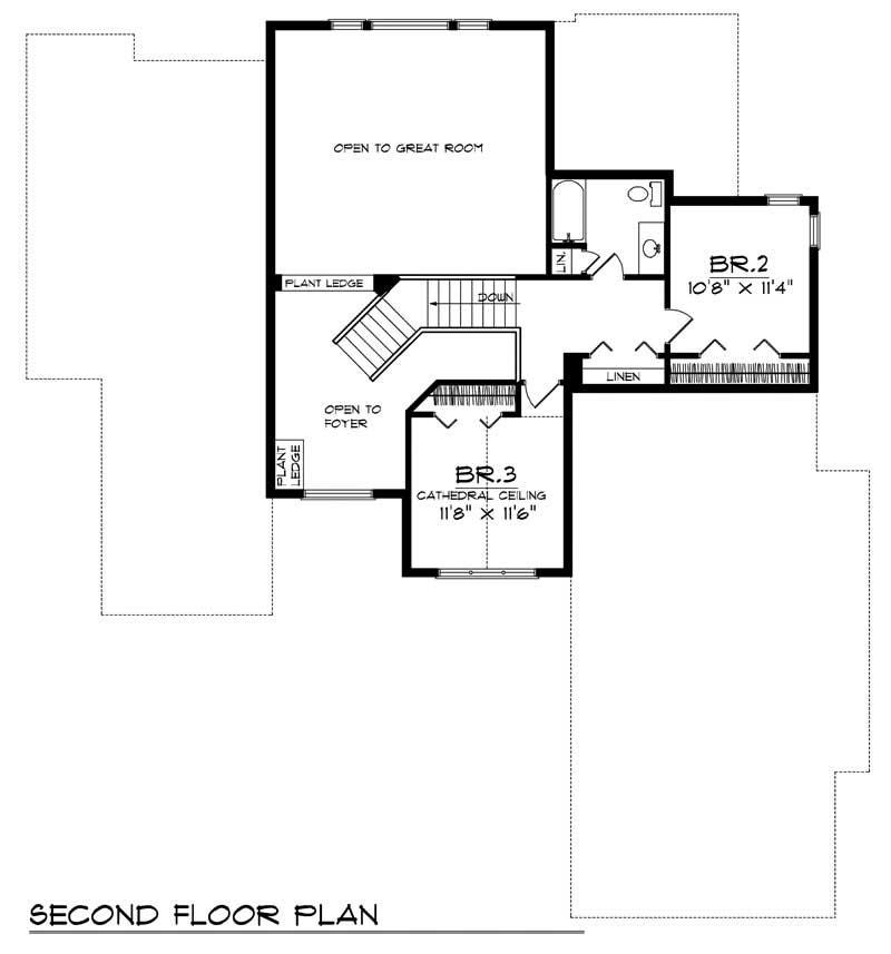 European Home With 3 Bdrms 2510 Sq Ft House Plan 101 1300