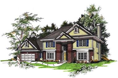 4-Bedroom, 2772 Sq Ft Colonial Home Plan - 101-1301 - Main Exterior