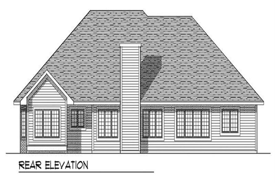 Home Plan Rear Elevation of this 2-Bedroom,2369 Sq Ft Plan -101-1302