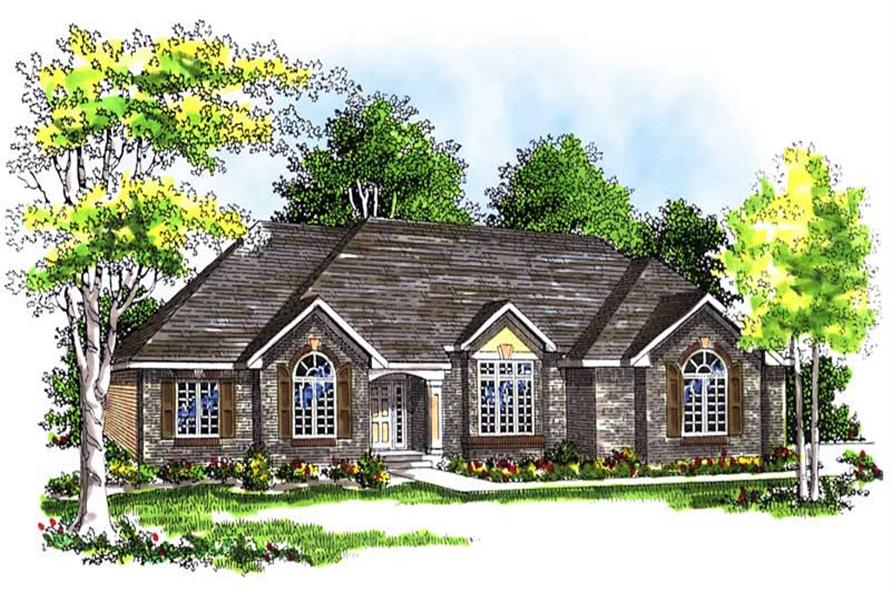 2-Bedroom, 2369 Sq Ft Ranch House Plan - 101-1302 - Front Exterior