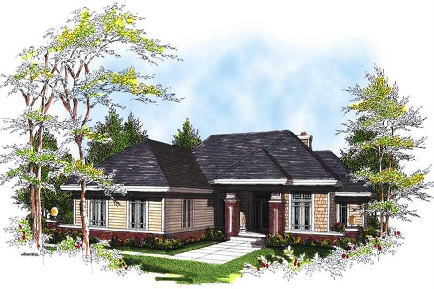 2-Bedroom, 1830 Sq Ft Ranch House Plan - 101-1305 - Front Exterior