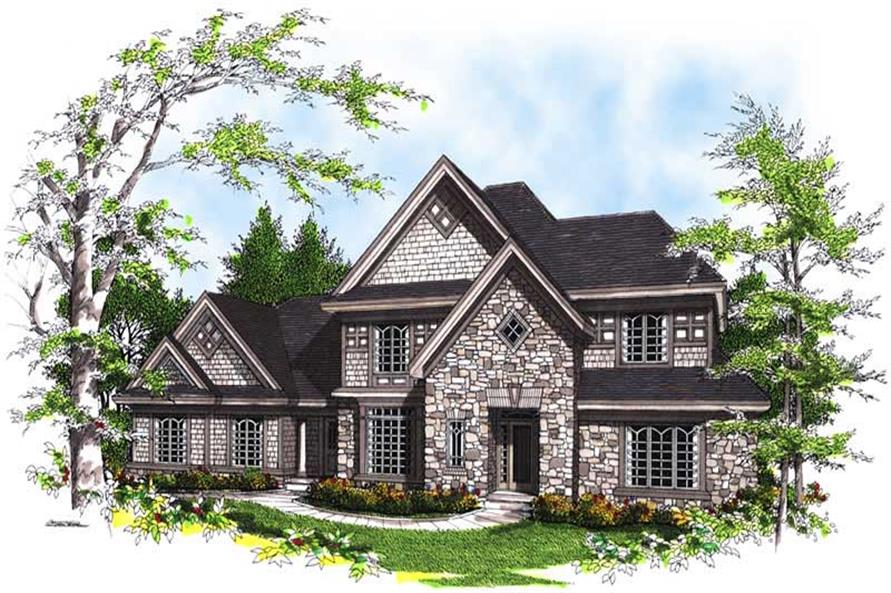 4-Bedroom, 2637 Sq Ft European Home Plan - 101-1307 - Main Exterior