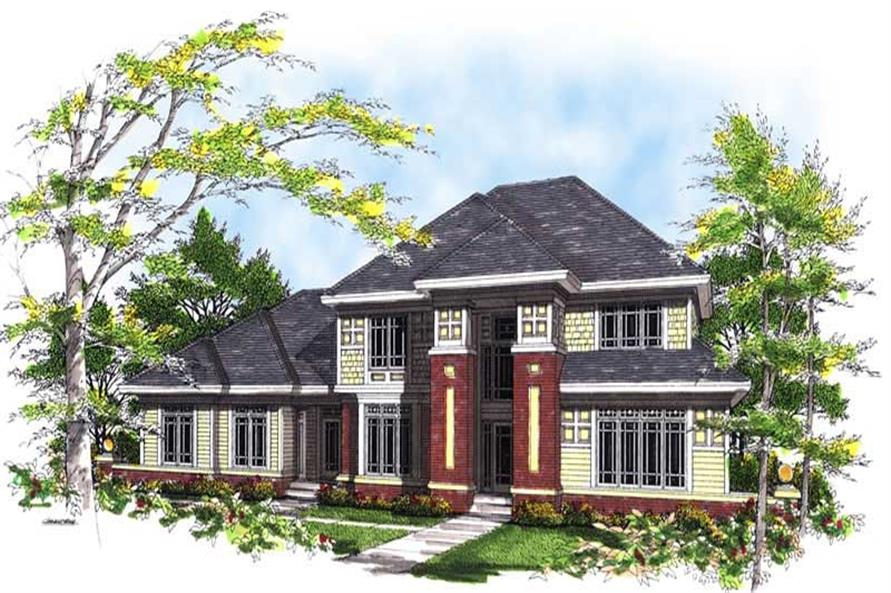 4-Bedroom, 3070 Sq Ft Colonial Home Plan - 101-1308 - Main Exterior