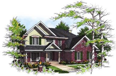 4-Bedroom, 3219 Sq Ft Country House Plan - 101-1312 - Front Exterior