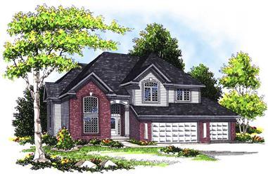 4-Bedroom, 2723 Sq Ft Craftsman House Plan - 101-1313 - Front Exterior