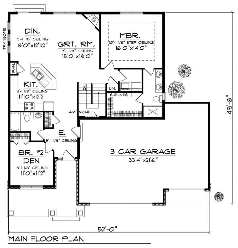 ranch small home with 2 bdrms 1393 sq ft house plan 101 1318. Black Bedroom Furniture Sets. Home Design Ideas