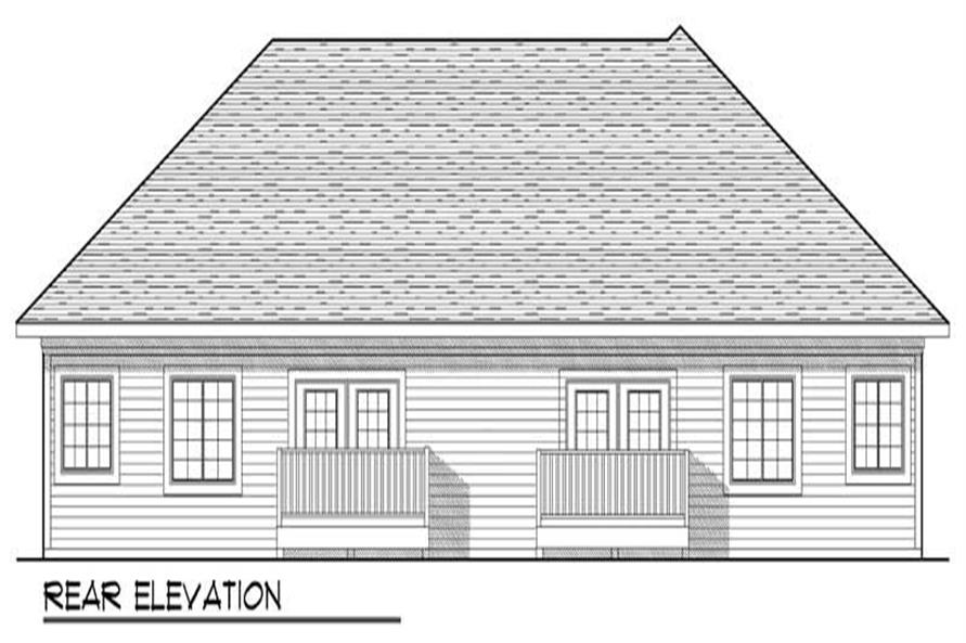 Home Plan Rear Elevation of this 2-Bedroom,2481 Sq Ft Plan -101-1322