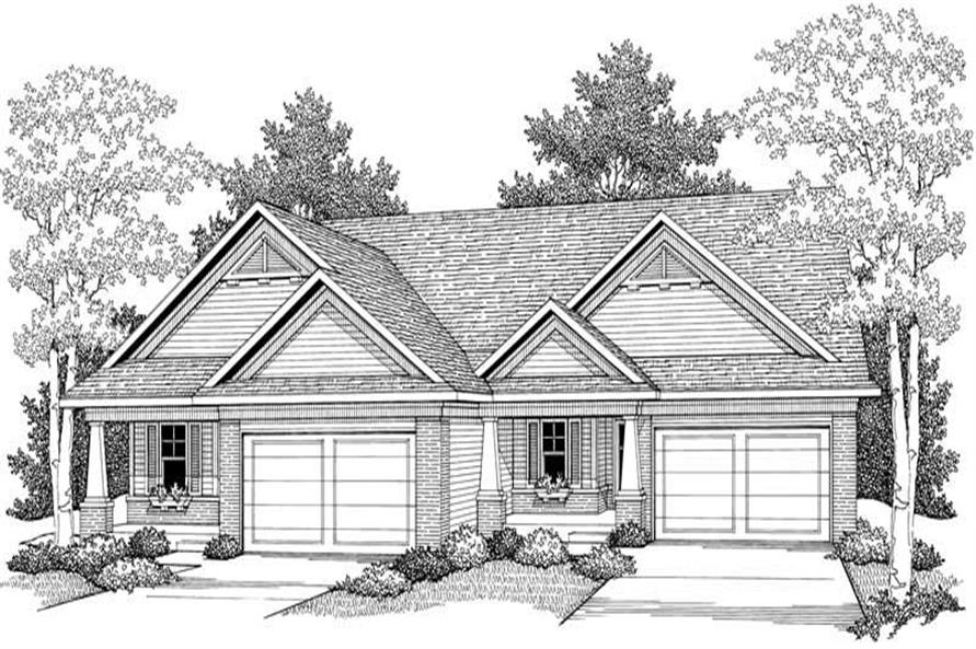 Home Plan Front Elevation of this 2-Bedroom,2683 Sq Ft Plan -101-1323