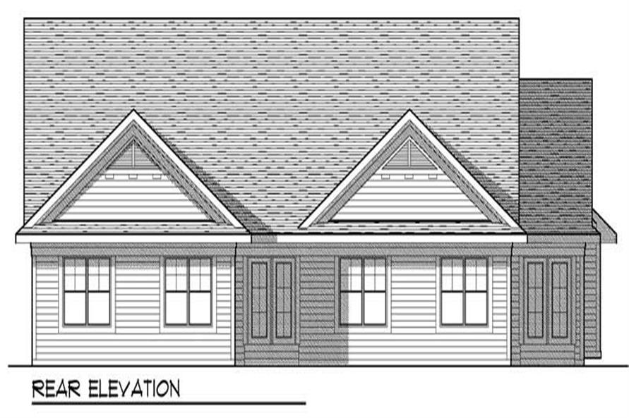 Home Plan Rear Elevation of this 2-Bedroom,2683 Sq Ft Plan -101-1323