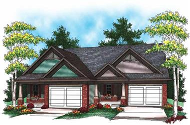 2-Bedroom, 2683 Sq Ft Multi-Unit Home Plan - 101-1323 - Main Exterior