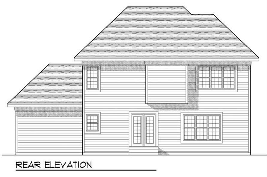 Home Plan Rear Elevation of this 3-Bedroom,2074 Sq Ft Plan -101-1328