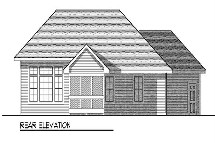 Home Plan Rear Elevation of this 2-Bedroom,1640 Sq Ft Plan -101-1330