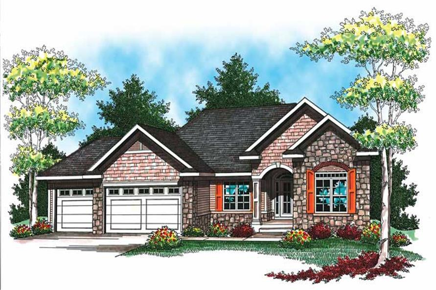 2-Bedroom, 1640 Sq Ft Small House Plans - 101-1330 - Main Exterior