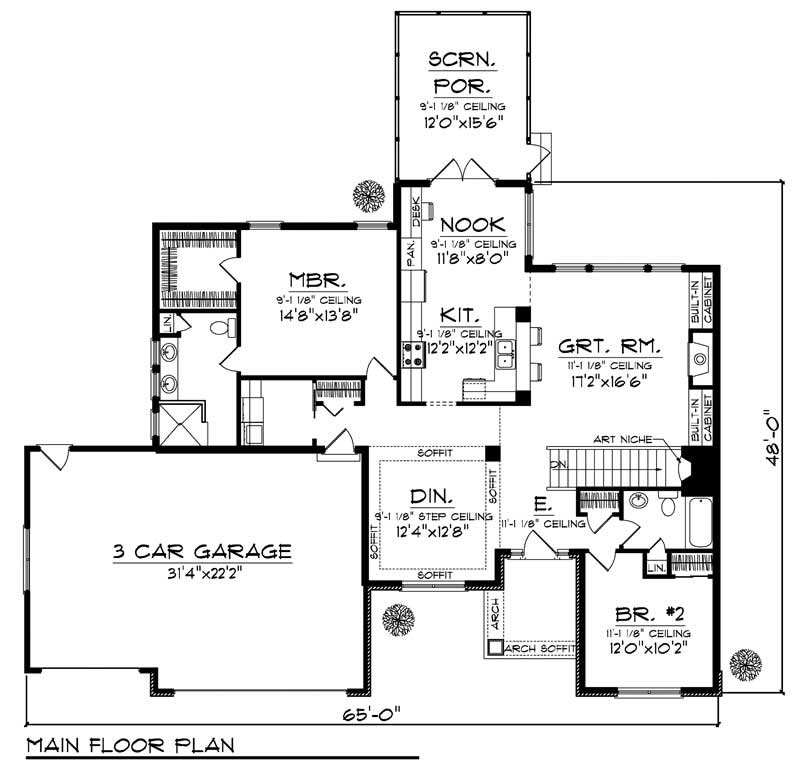 House Design 101: Small - Ranch Home With 2 Bdrms, 1640 Sq Ft