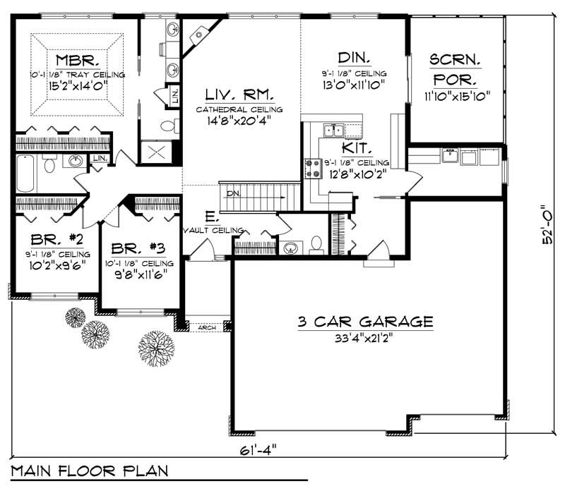 House Design 101: Small - Ranch Home With 3 Bdrms, 1701 Sq Ft