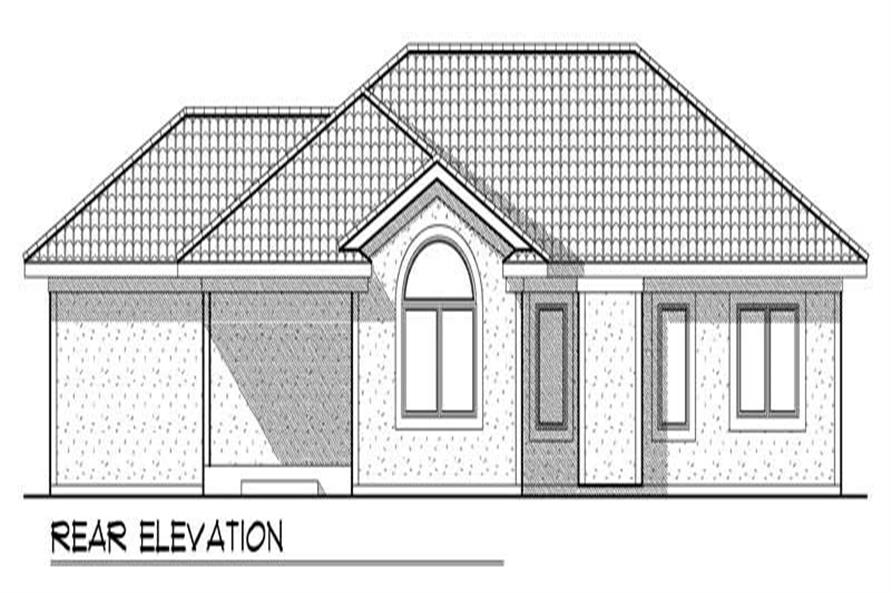 Home Plan Rear Elevation of this 3-Bedroom,1591 Sq Ft Plan -101-1333