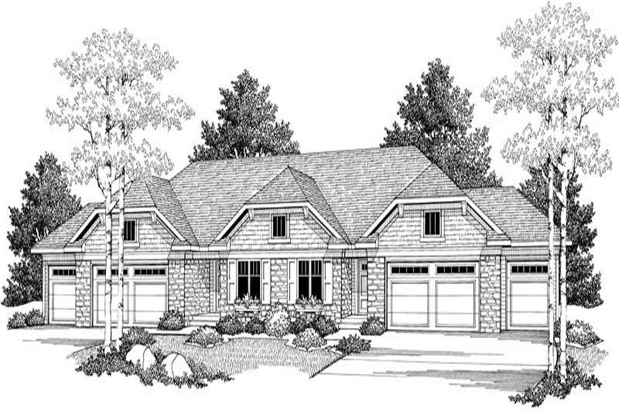 Home Plan Front Elevation of this 3-Bedroom,5056 Sq Ft Plan -101-1334