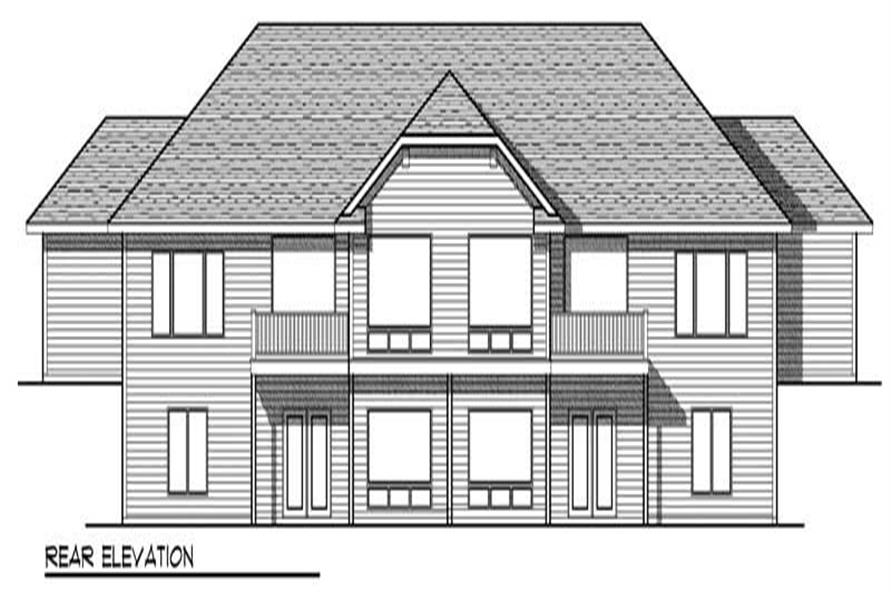 Home Plan Rear Elevation of this 3-Bedroom,5056 Sq Ft Plan -101-1334