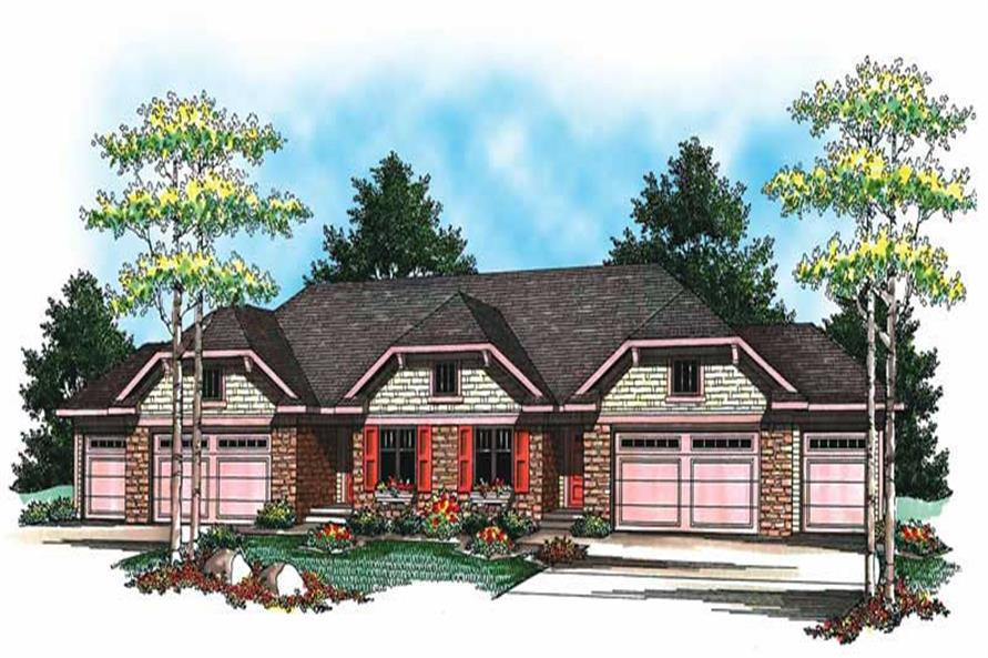 3-Bedroom, 5056 Sq Ft Multi-Unit Home Plan - 101-1334 - Main Exterior