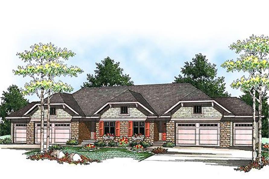 3-Bedroom, 5056 Sq Ft Multi-Unit Home Plan - 101-1334 - Main Exterior