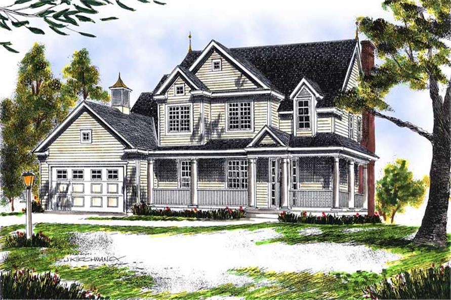 4-Bedroom, 2009 Sq Ft Cape Cod Home Plan - 101-1335 - Main Exterior