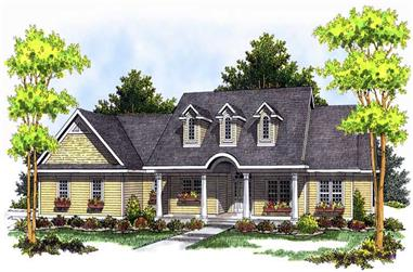3-Bedroom, 1781 Sq Ft Colonial Home Plan - 101-1337 - Main Exterior