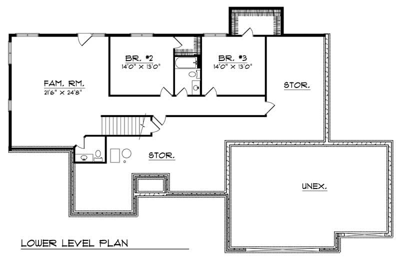 ranch home with 3 bdrms 3513 sq ft house plan 101 1338