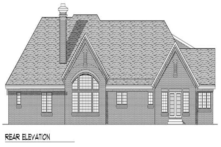 Home Plan Rear Elevation of this 3-Bedroom,3406 Sq Ft Plan -101-1340