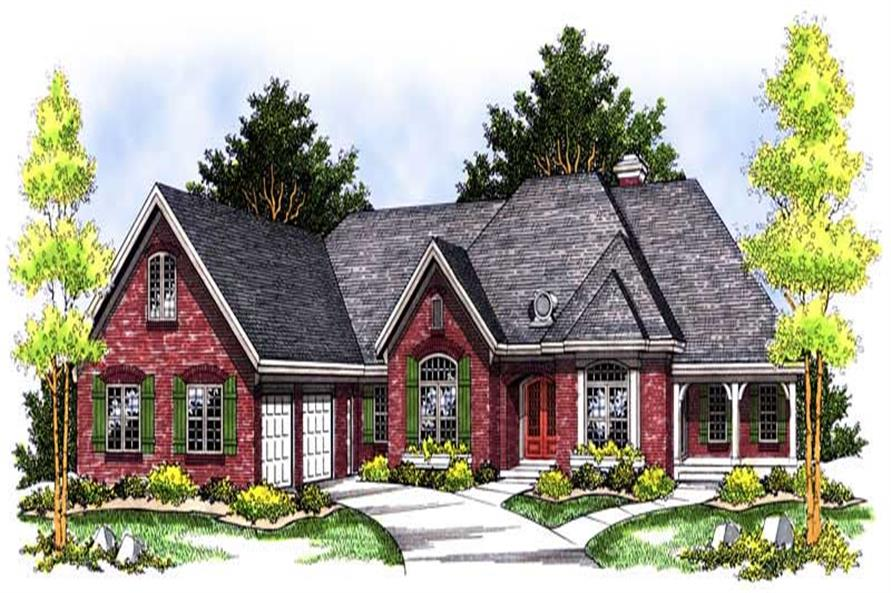 3-Bedroom, 3406 Sq Ft Ranch House Plan - 101-1340 - Front Exterior