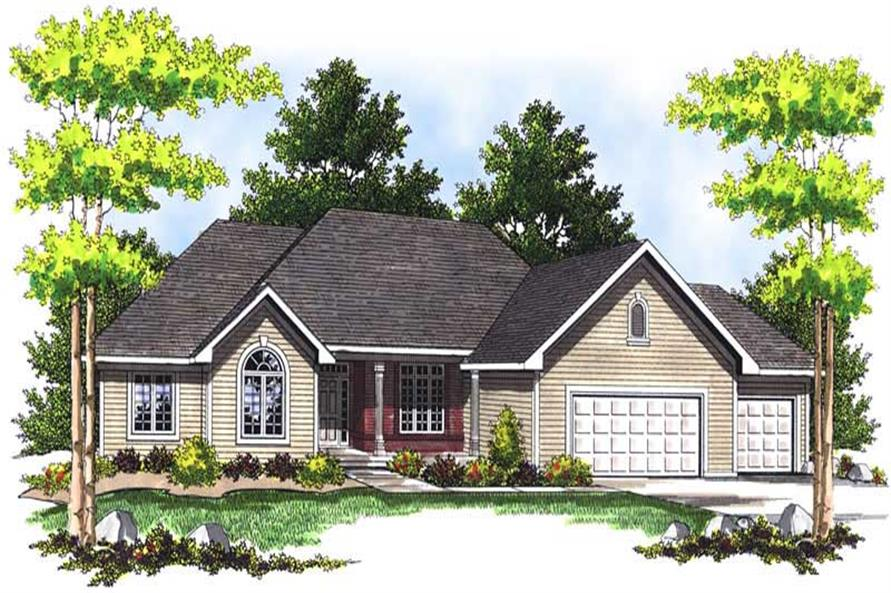 3-Bedroom, 2003 Sq Ft Ranch Home Plan - 101-1341 - Main Exterior