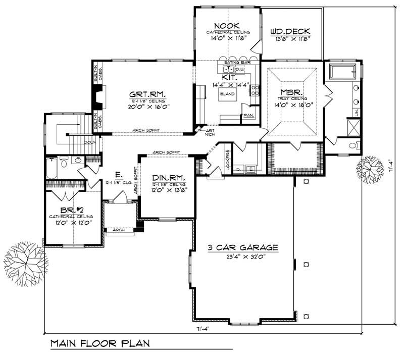 House Design 101: European Home With 2 Bdrms, 2245 Sq Ft
