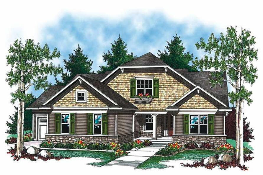 2-Bedroom, 1508 Sq Ft Craftsman Home Plan - 101-1345 - Main Exterior