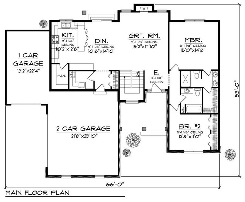 Large images for house plan 101 1345 for Home plan collection