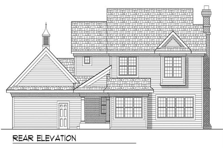 Home Plan Rear Elevation of this 4-Bedroom,1976 Sq Ft Plan -101-1347